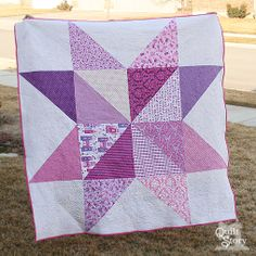 Quilt Story: Giant Princess Star Quilt...