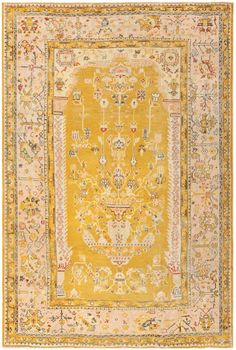 View this lovely antique Turkish Oushak carpet which is currently available for sale at Nazmiyal Collection in New York City. Persian Carpet, Persian Rug, Mustard Rug, Room Size Rugs, Stain Remover Carpet, Prayer Rug, My New Room, Throw Rugs, Rugs On Carpet