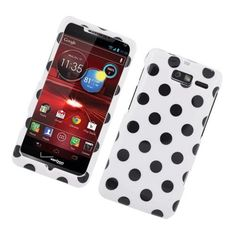 Eagle Cell PIMOTXT907G180 Stylish Hard Snap-On Protective Case for Motorola Droid RAZR M XT907 - Retail Packaging - Black/White Polka Dots, http://www.amazon.com/dp/B00AF954UM/ref=cm_sw_r_pi_awd_mvBasb1TY551A