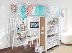 ® loft bedroom loft, dream bedroom, bedroom decor, loft beds, bunk be Room, Room Design, Dream Bedroom, Bedroom Design, Bedroom Diy, Loft Bed, Cute Bedroom Ideas, Tween Girl Bedroom, Bedroom
