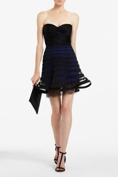 BCBG MAX AZRIA Neena Strapless Cocktail Dress