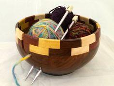 Large Camphor Yarn Bowl KB 83 by Salswoodturning on Etsy