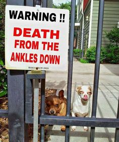warning death from the ankles down sign