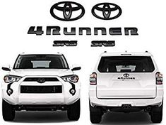 Genuine OEM Toyota Blackout Emblems For 2010-2017 4 Runner 5 Piece New Free Ship