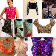 Beautiful sari blouse get them made at nivetas design studio see bio quires or other details #Blouse #Sari #Lehenga
