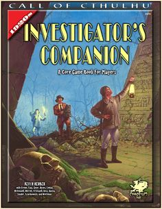 1920s Investigator's Companion | Book cover and interior art for Call of Cthulhu Roleplaying Game - CoC, Basic Role-Playing System, BRP, The Card Game, TCG, Living Card Game, LCG, Miskatonic University, H. P. Lovecraft, fantasy, horror, Role Playing Game, RPG, Chaosium Inc. | Create your own roleplaying game books w/ RPG Bard: www.rpgbard.com | Not Trusty Sword art: click artwork for source