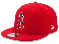 e785d39df8b New Era Los Angeles Anaheim Angels 59Fifty Fitted Hat (Red) MLB Cap  fashion