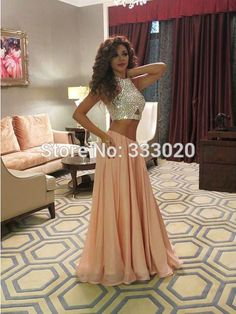 Queen of Stage Myriam Fares Dresses Rami Kadi Crystal Beaded Formal Celebrity Evening Gown Sparkly Two Piece Prom Dress Luxury