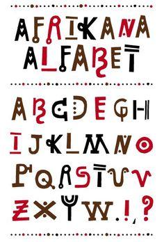 Weer een lettertype dat nogmaals toont hoe speels het voor hun moet zijn, weinig kleur, maar als ze kleur gebruiken aarde/ natuurlijke kleuren. Ook weer de vormen en symbolen die je er in kan herkennen