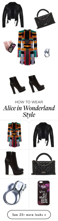 """""""Geometric"""" by littlestyledoll on Polyvore featuring Balmain, Forever 21, Chanel, Disney, Kill Star, dressy, NightOut, dresses and Sequins"""