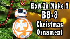 How To Make A BB-8 Christmas Ornament - see video at https://youtu.be/DKz3xKonNWU - Madi2theMax
