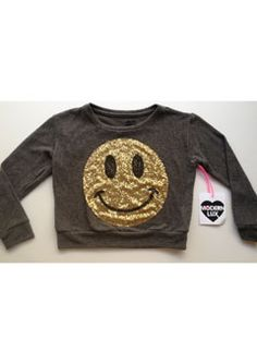 Found this LA label 'Modern Lux' which my kids love. Ran a comp on instagram and the Sequins-Happy design was the favourite. It is very cute and looks extra great at $30. Happy Design, Tween Girls, Little Things, Looks Great, Jumper, Label, Sequins, Sweatshirts, Modern
