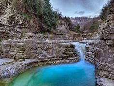 Amazing landscape in Zagorohoria, Epirus , Greece Places Around The World, Around The Worlds, Winter Destinations, Paradise On Earth, Rock Pools, Greece Travel, Travel Around, Places To See, Travel Inspiration
