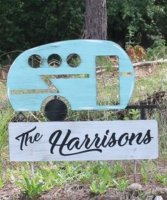 This Metal Camper Personalized Yard Stake is perfect! #zulilyfinds