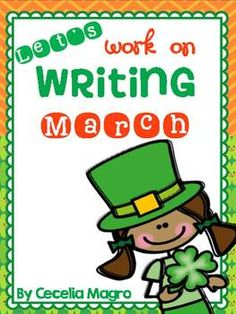 This 31 page product is perfect for your March Writing Centers or Work on Writing time during Daily 5.  It includes cards for March words, labeling writing, nonfiction writing, prompts, word wall and March sentence pages.  I love to use these with my reluctant writers who cannot come up with ideas for independent writing.More Let's Work on Writing Products:Let's Work on Writing April
