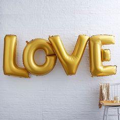 """Folienballon Schriftzug """"LOVE"""", gold"""