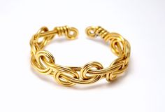 Beau bracelet celtique doré class (bracelet réglable)