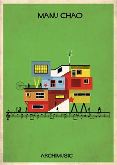 ARCHIMUSIC: Illustrations Turn Music Into Architecture,Courtesy of Federico Babina