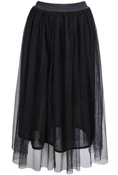 Elastic Waist Mesh Skirt 13.33