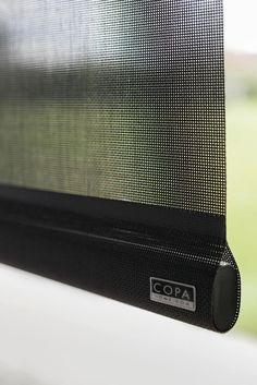 Detail copahome rolgordijn scree, zwart /  Détail copahome stores enrouleurs screen, noir