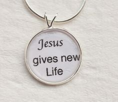 Jesus gives new Life by PersonalizedbyBonnie on Etsy, $15.50
