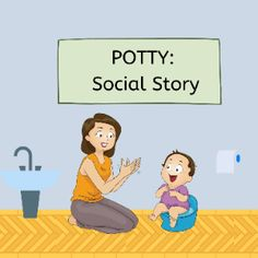 Boom Cards - Social story: Potty Occupational Therapy, Speech Therapy, Social Stories, Potty Training, Life Skills, Special Education, Author, Activities, Learning