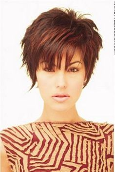Short Sassy Haircuts for Women | Sassy Highlighted Pixie with a Fringe