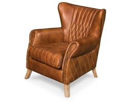 Best Thatcher Leather Wingback Chair Leather Couches And 400 x 300