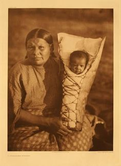 Comanche mother with her child - circa 1926