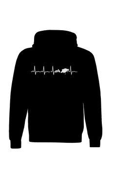 Scuba Heartbeat - Hoodies | #TeeVogue #travel #inspiration cool custom scuba diving hoodies | teevogue.com