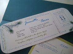 Boarding Pass Wedding Invitation - Destination Wedding - Paper goods by Le Petit Papier - www.lepetitpapierbymonica.com