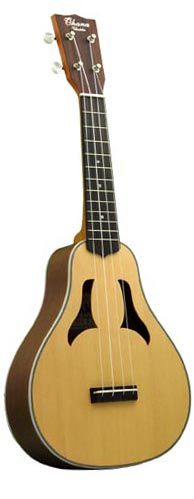 Pear shaped ukulele