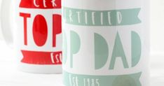 This charming and stylish certified top dad mug is the perfect Fathers Day gift for Dad this year. The perfect mug for his kitchen, study or office. Father Birthday Gifts, Homemade Fathers Day Gifts, Fathers Day Mugs, Fathers Day Crafts, Gifts For Father, Homemade Gifts, Diy Father's Day Crafts, Father's Day Diy, Thanks For The Gift