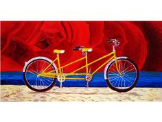 Tandem Bicycle Built for Two Print, Valentine's Day Gift, Anniversary Gift, Gift for Parents, Gift for Couple, Schwinn Tandem Bicycle Print