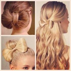 Types of bows in hair