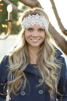 Ivory Crochet Lace Headband from NanaMacs Boutique. Boho Jewelry, Fashion Jewelry, Nanamacs Boutique, Lace Headbands, Photoshoot Inspiration, Crochet Lace, Women's Accessories, My Hair, Hair Makeup