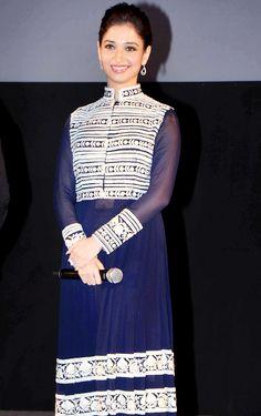 Tamannaah Bhatia at special screening of 'Entertainment' in New Delhi. Indian Actress Photos, Beautiful Indian Actress, Indian Actresses, Lehenga, Sarees, Kurtis Tops, Kurti Styles, Fashion Beauty, Women's Fashion
