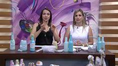 Garrafa de vidro com decoração Shabby Chic PT1   Camila Claro de Carvalh...