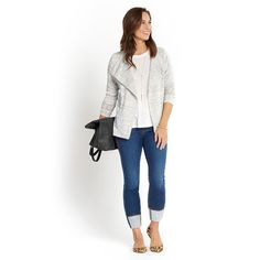 LOVE!!! REALLY want this Jessie draped front terry knit cardigan by Loveappella.  I have almost the same cropped jeans from a former fix.