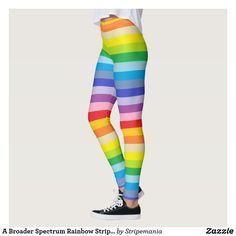 A Broader Spectrum Rainbow Stripes Leggings #leggings #yogapants #workout #fitness #pilates #spandex #fashion