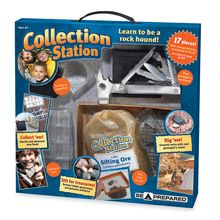Whether you hunt for fossils, crystals or gemstones, here are the tools you'll need to build your collection. The kit includes a heavy-duty geologist's multi-tool, safety glasses, gem sifter pan, a 2-pound bag of gemstone and fossil sifting ore, magnifier, collection box and 16-page guidebook. Developed with approval of the Boy Scouts of America®.