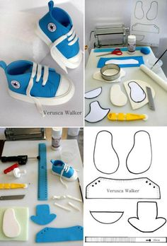 Cupcakes fondant baby cake tutorial 67 Ideas for 2019 Baby Cakes, Baby Shower Cakes, Fondant Baby Shoes, Cake Fondant, Cake Icing, Felt Baby Shoes, Shoe Template, Website Template, Diy Bebe