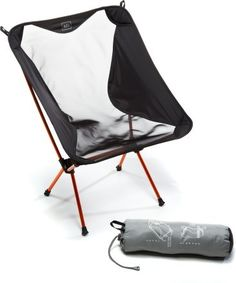 Our new motorcycle camping chair we have two one for each of us. Packs down to the size of a wine bottle and weighs less than 2 lbs. Plus it is comfortable. REI Flex Lite Chair