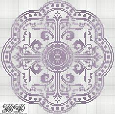 Cross stitch motif, large