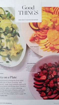 Martha Stewart Living June 2018 Party on a Plate - Fruit Salads