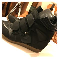 Target Sneakers Barely worn Target black sneakers. Got them during the Isabel Marant trend! No trades. Target Shoes Sneakers