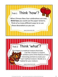 FREE Chinese New Year critical and creative thinking task cards, Internet search, and Word wall cards!