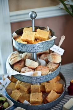 Tea sandwiches would be great on displayed on this!! Women Wednesdays: Back Porch, Southern Bridal Shower