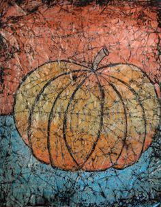 a faithful attempt: Wax Crayon Batik Style Pumpkins