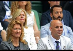 Former US tennis player Andre Agassi and Steffi Graff 4 July 2012 @ Wimbledon Royal Box